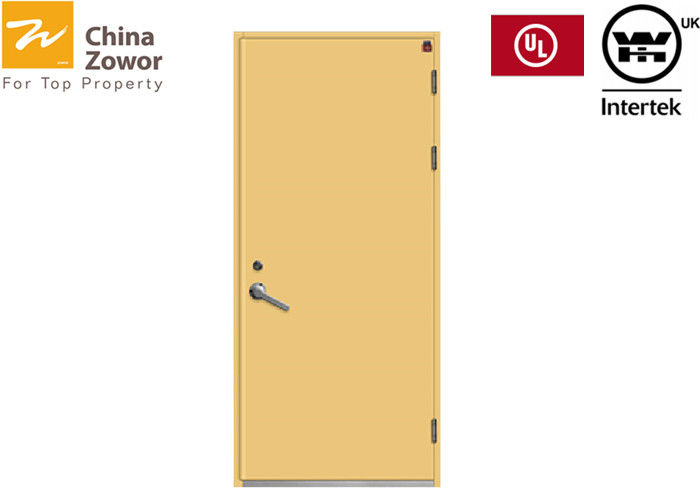 Single Swing Yellow Color Gal. Steel Insulated Fire Door/ 90 mins Fire Rating